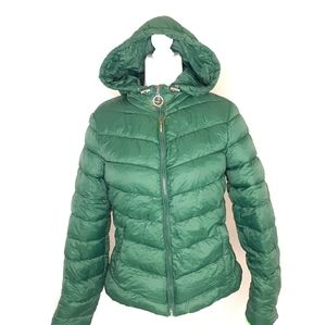MADDEN NYC Coat Puffer Jacket Pine Green Large NWT
